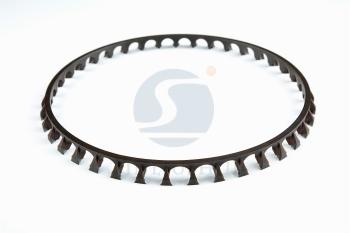 Angular contact bearing cage