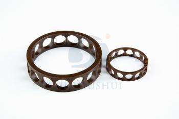 Precision angular contact bearing cage